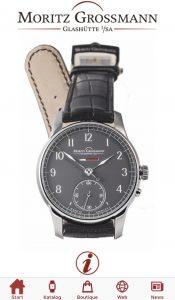 Uhrmacherkunst - App der Firma Moritz Grossmann