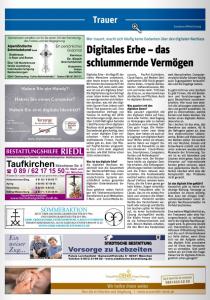 Hallo Trauer und Gedenken mit dem Thema Digitales Erbe