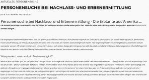 Schütt Blog Erbenermittlung