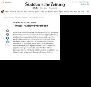 Twitter - Passwort Vererben SZ
